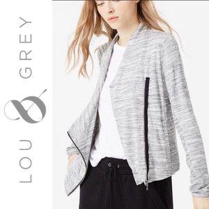 Lou & Grey Knit Cardigan w/Asymmetrical Zipper